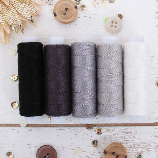 Pearl Cotton Thread Set Grey Shades - Threadart.com