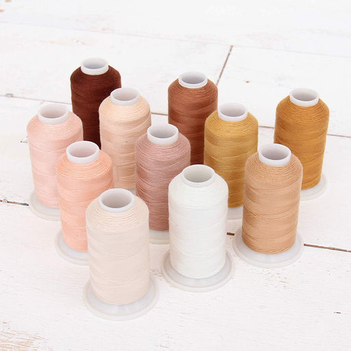 Polyester All-Purpose Sewing Thread 11 Cone Neutral Shades Set - Threadart.com