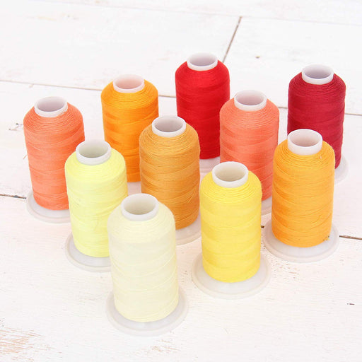 Polyester All-Purpose Sewing Thread 10 Cone Sunrise Shades Set - Threadart.com