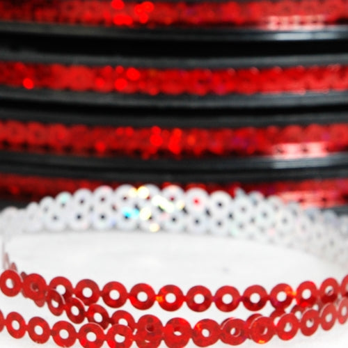 Hot Fix Sequin Reel - Red 4mm - Threadart.com
