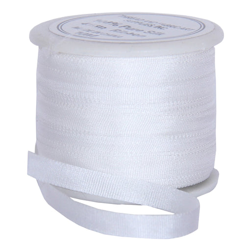 Silk Ribbon 4mm White x 10 Meters No. 003 - Threadart.com