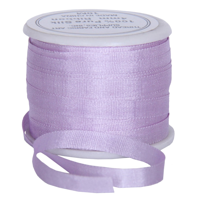Silk Ribbon 4mm Pale Lavender x 10 Meters No. 024 - Threadart.com