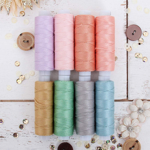 Pearl Cotton Thread Set Pastel Colors - Threadart.com