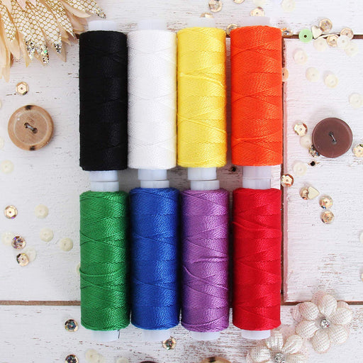 Pearl Cotton Thread Set Rainbow Colors - Threadart.com