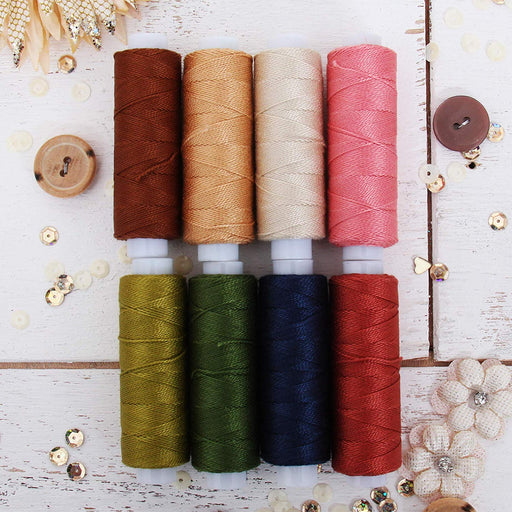 Pearl Cotton Thread Set Fall Colors - Threadart.com