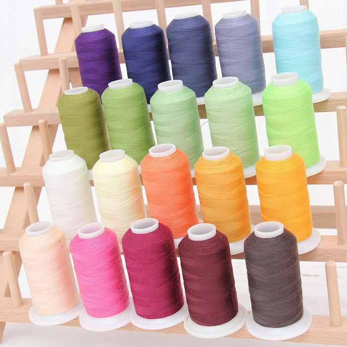 THREAD YARN SPOOLS SEWING ITEMS BRIGHT COLORS COTTON FABRIC BTHY