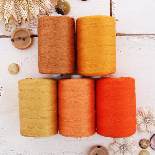 Cotton Quilting Thread Set - 5 Orange Tones - 1000 Meters - Threadart.com