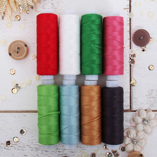 Pearl Cotton Thread Set Christmas Colors - Threadart.com
