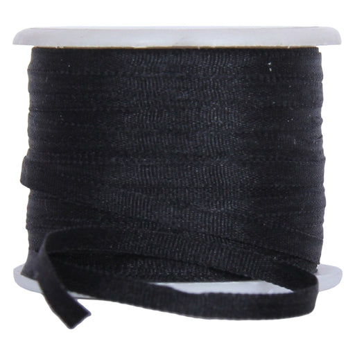 Silk Ribbon 2mm Black  x 10 Meters No. 002 - Threadart.com