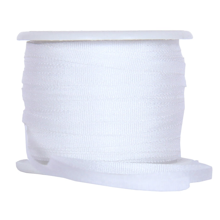 Silk Ribbon 2mm White x 10 Meters No. 003 - Threadart.com