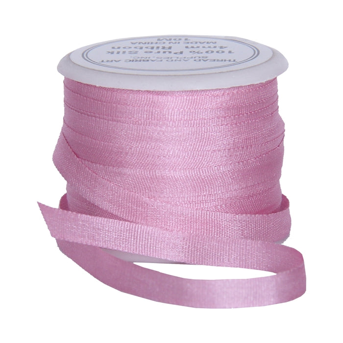 Silk Ribbon 4mm Mauve x 10 Meters No. 204 - Threadart.com