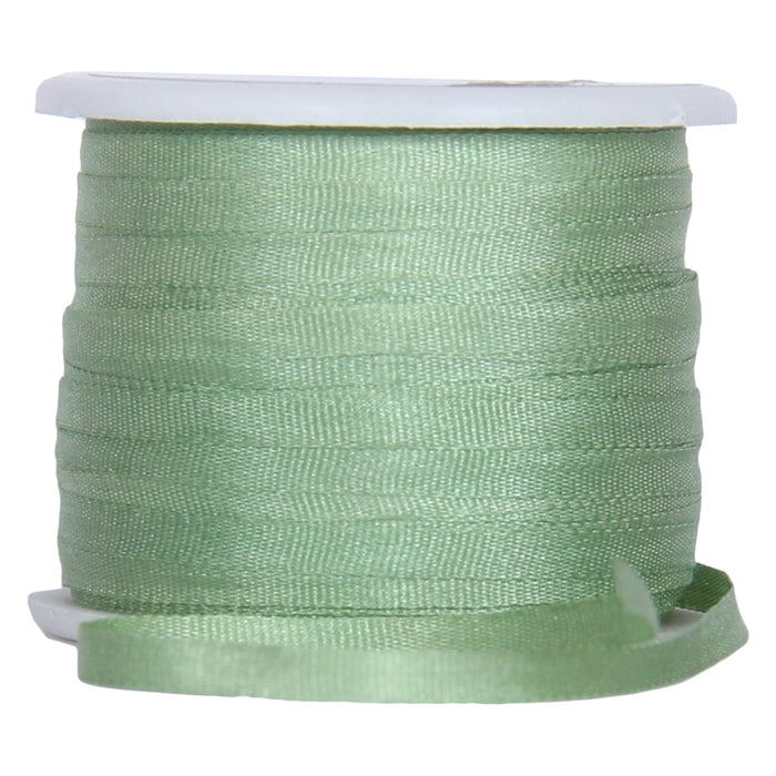 Silk Ribbon 2mm Nile Green x 10 Meters No. 240 - Threadart.com