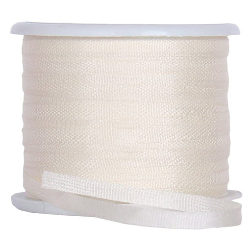 Silk Ribbon 2mm Cream x 10 Meters No. 501 - Threadart.com