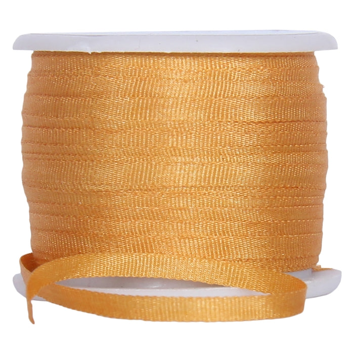 Silk Ribbon 2mm Orange Yellow x 10 Meters No. 511 - Threadart.com
