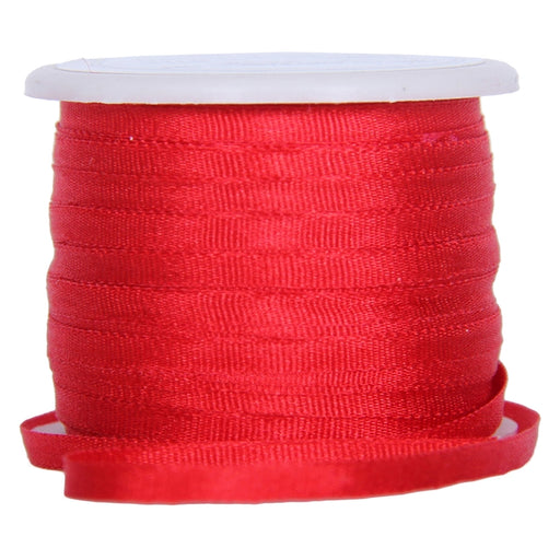 Silk Ribbon 2mm Red x 10 Meters No. 539 - Threadart.com