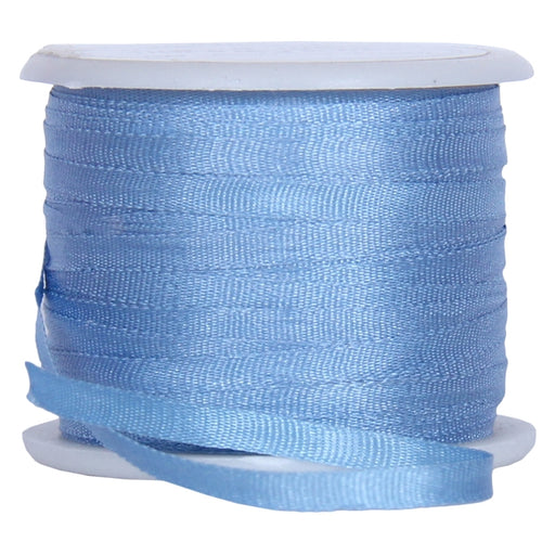 Silk Ribbon 2mm Med Blue x 10 Meters No. 585 - Threadart.com