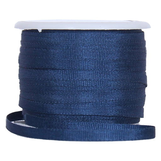 Silk Ribbon  2mm Navy 10 Meter Roll-No. 590 - Threadart.com