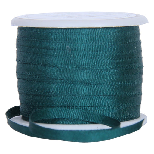 Silk Ribbon 2mm Teal Green 10m-617 - Threadart.com