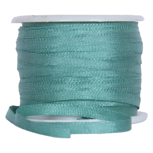 Silk Ribbon 2mm Teal x 10 Meters No. 625 - Threadart.com