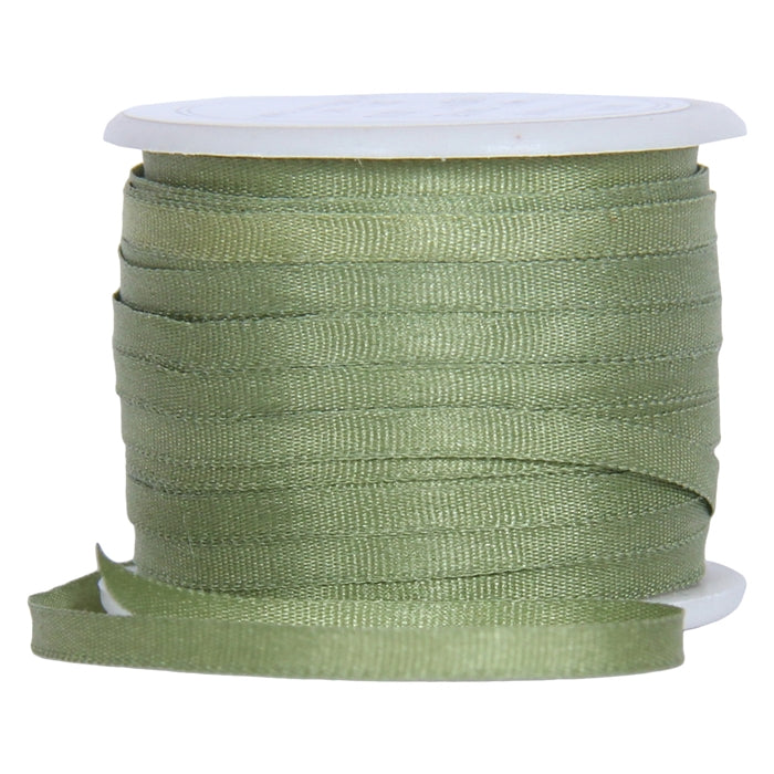 Silk Ribbon 2mm Sage x 10 Meters No. 633 - Threadart.com