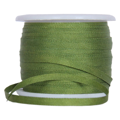 Silk Ribbon 2mm Dk Sage x 10 Meters No. 653 - Threadart.com