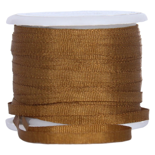 Silk Ribbon 2mm Golden Tan x 10 Meters No. 668 - Threadart.com
