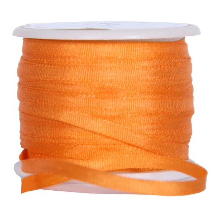Silk Ribbon 2mm Orange x 10 Meters No. 705 - Threadart.com