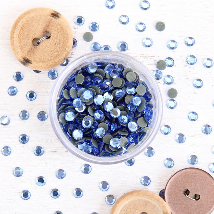 Hot Fix Rhinestones - SS6 - Aquamarine - 1440 stones - Threadart.com