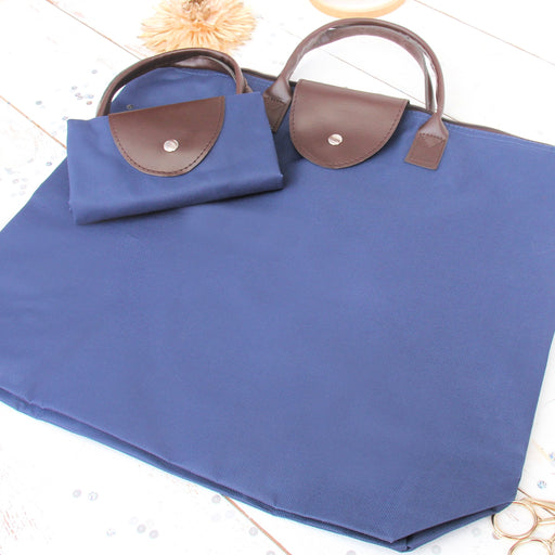 Foldable Shopping Bag Oxford - Navy - Threadart.com