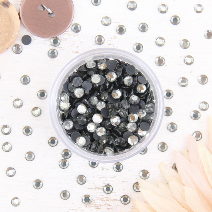 Hot Fix Rhinestones - SS10 - Black Diamond - 1440 stones - Threadart.com