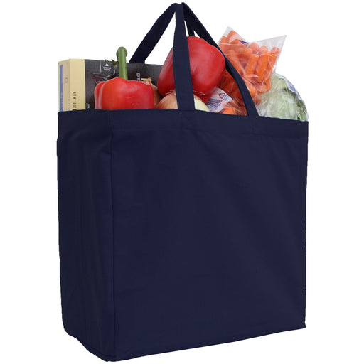 Canvas Tote - Navy - 100% Cotton- 14x14x7.5 - Threadart.com