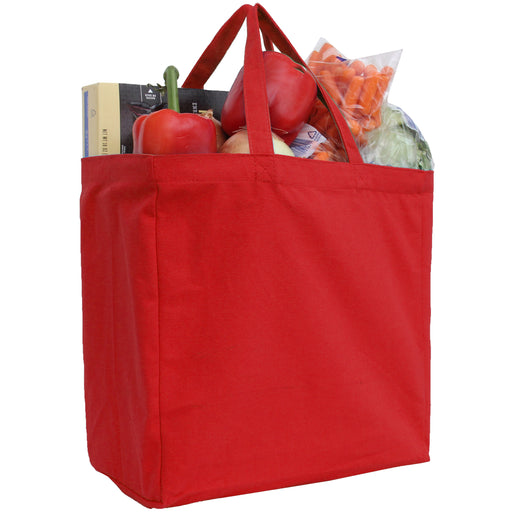 Canvas Tote - Red - 100% Cotton- 14x14x7.5 - Threadart.com
