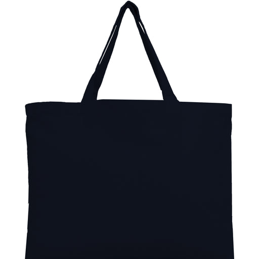 Canvas Tote - Black - 100% Cotton - 12x16 - Threadart.com