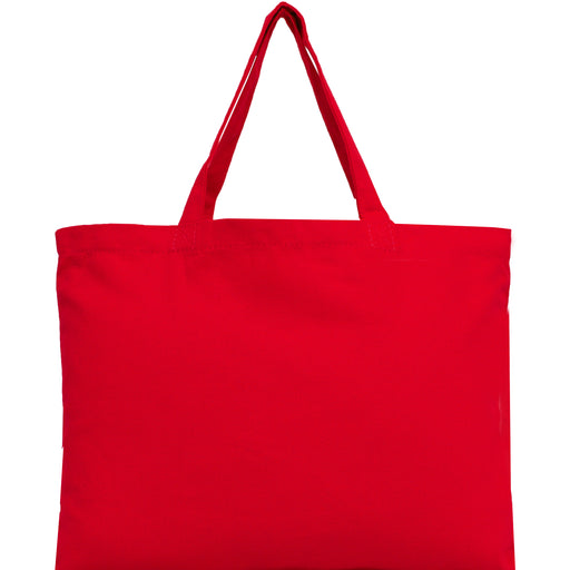 Canvas Tote - Red - 100% Cotton - 12x16 - Threadart.com