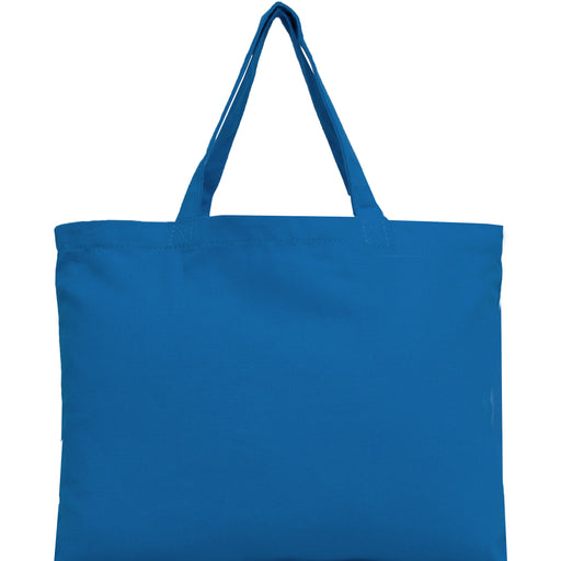 Canvas Tote - Royal Blue - 100% Cotton - 12x16 - Threadart.com