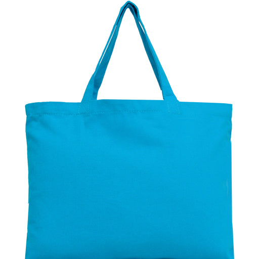 Canvas Tote - Turquoise - 100% Cotton - 12x16 - Threadart.com