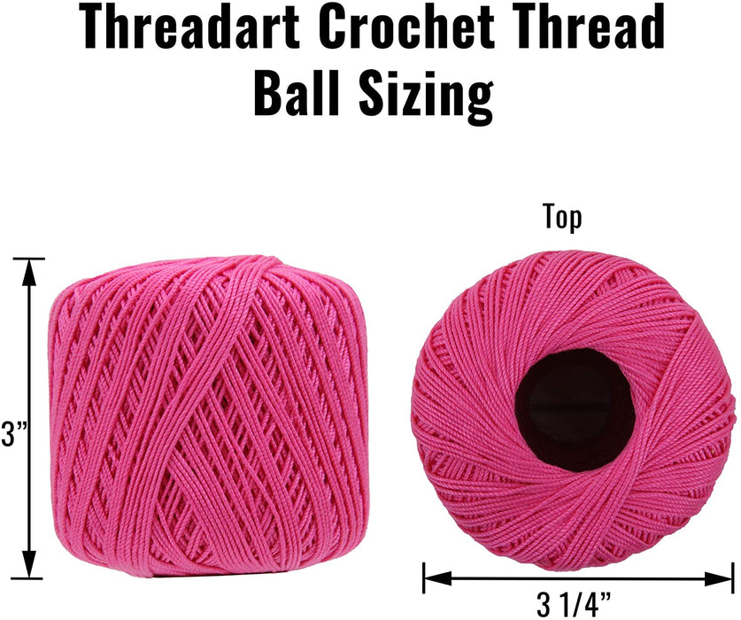 Cotton Crochet Thread - Size 10 - Avocado - 175 Yds - Threadart.com