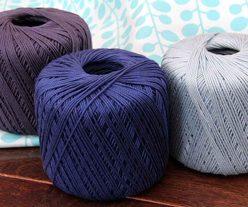 Cotton Crochet Thread - Size 3 - Lilac- 140 yds - Threadart.com