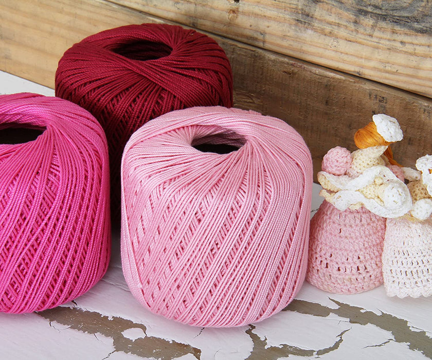 Cotton Crochet Thread - Size 10 - Mauve - 175 Yds - Threadart.com