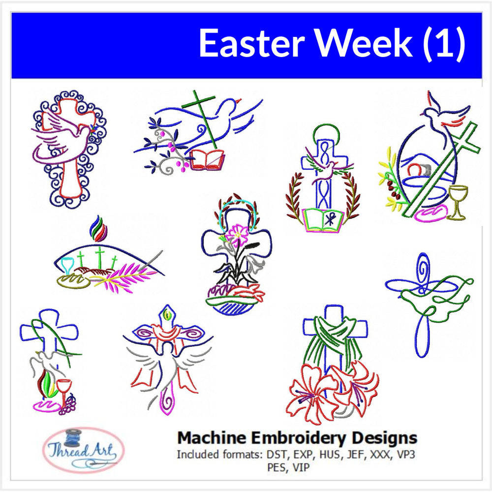 Machine Embroidery Designs - Easter Week (1) - Threadart.com