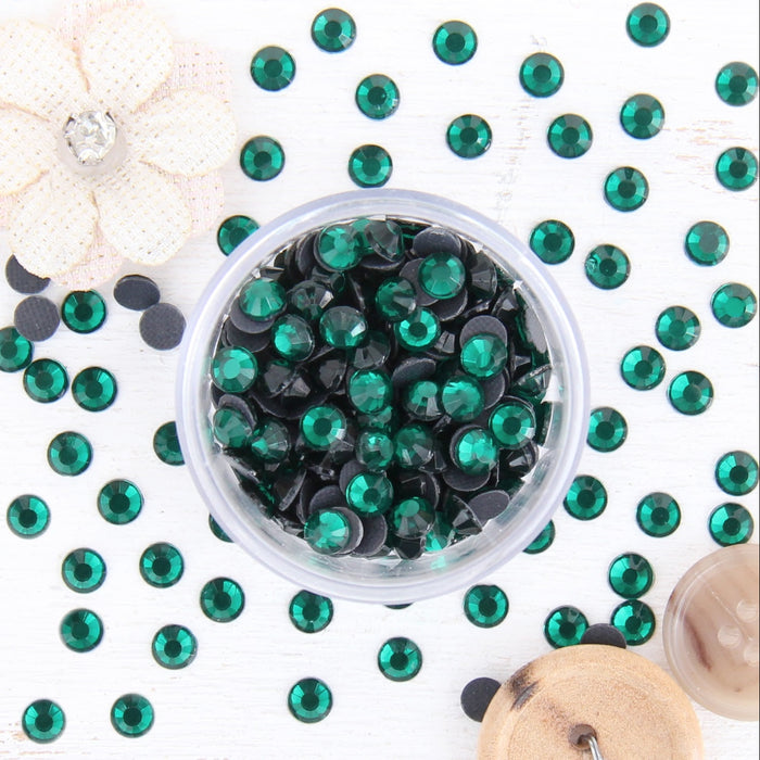 Hot Fix Rhinestones - SS20 - Emerald - 288 stones - Threadart.com