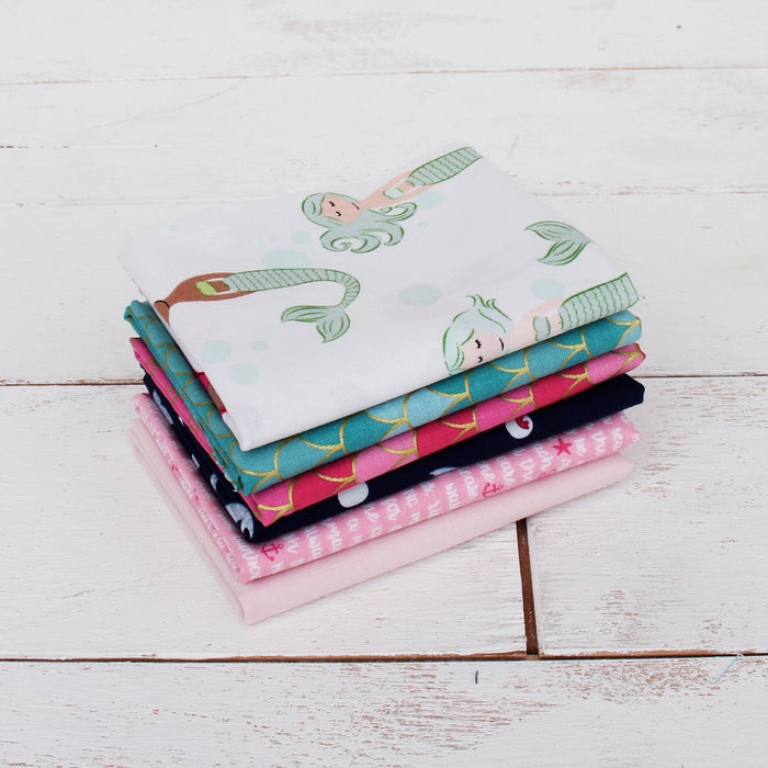 Six Fat Quarter Grab Bag - Girlie Prints - Threadart.com