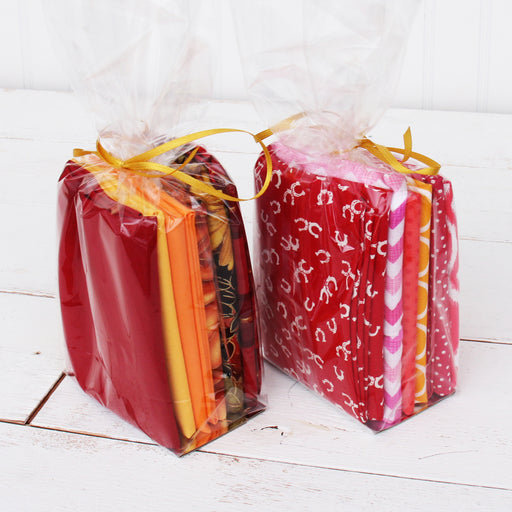 Six Fat Quarter Grab Bag - Warm Colors - Threadart.com