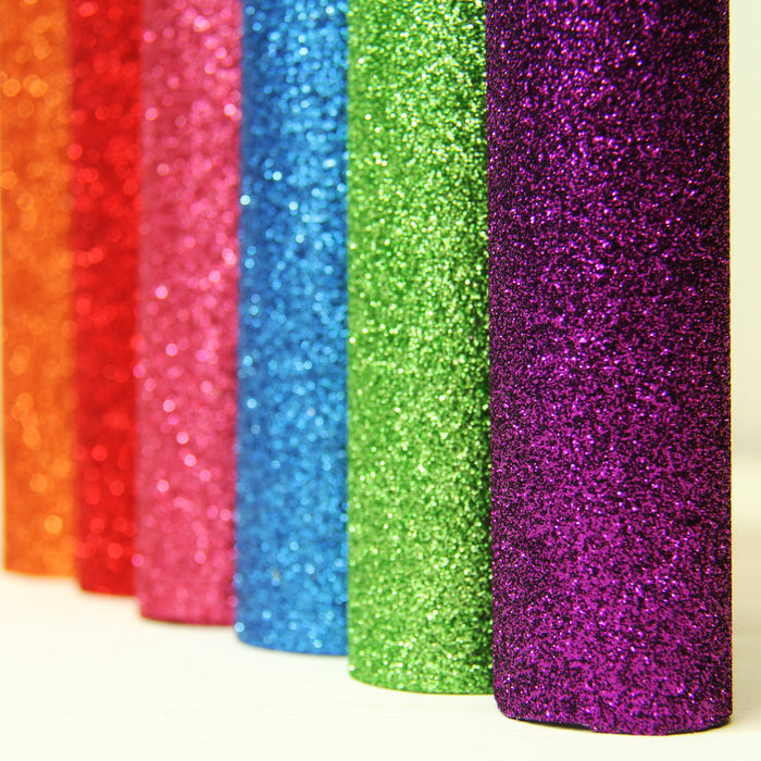 "12 Color Pack of 10""x12"" Sheets Glitter Heat Transfer Vinyl - Variety Pack - Threadart.com"