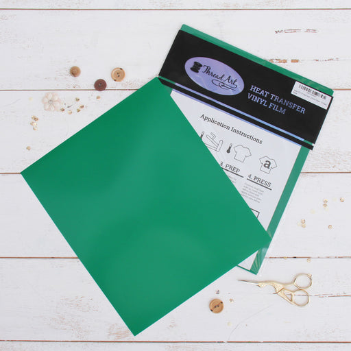 "15 Sheets of Green Heat Transfer Vinyl - Pack of  10""x12"" Sheets - Threadart.com"