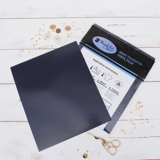 "15 Sheets of Navy Heat Transfer Vinyl - Pack of  10""x12"" Sheets - Threadart.com"