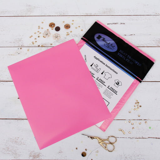 "15 Sheets of Pink Heat Transfer Vinyl - Pack of  10""x12"" Sheets"