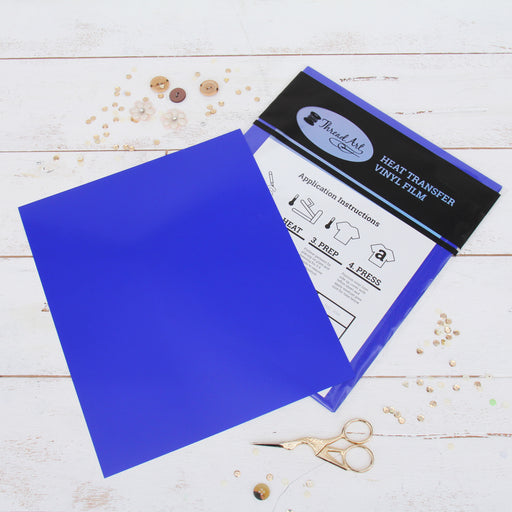 "15 Sheets of Royal Blue Heat Transfer Vinyl - Pack of  10""x12"" Sheets - Threadart.com"