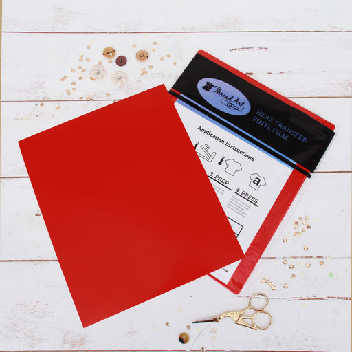 "15 Sheets of Red Heat Transfer Vinyl - Pack of  10""x12"" Sheets"