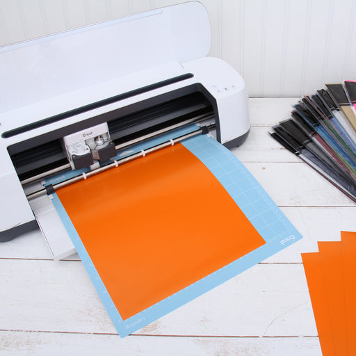 "15 Sheets of Yellow-Orange Heat Transfer Vinyl - Pack of  10""x12"" Sheets"